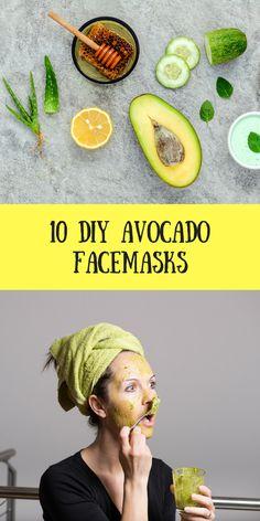 10 DIY Avocado Face Mask
