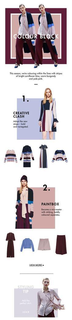 MAX&Co. AW 16 - Colour Block #maxandco #fashion #style #colourblocking #newsletter #design: