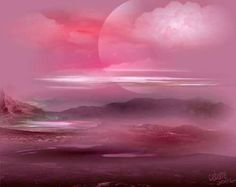Pink Moon: Full Moon in Libra April 2011 By Maharani Rutan© On April we will have a Full moon transiting in Libra at 28 degrees. The full illumi… Red And Pink, Pretty In Pink, Pink Purple, Magenta, Pink Moon Wallpaper, Full Moon In Libra, Green Moon, Best Sunset, Everything Pink