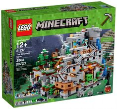 Lego Ninjago Minecraft the Mountain Cave 21137 Building Kit Piece) Lego Minecraft, Minecraft Stuff, Minecraft Party, Lego Moc, Minecraft Houses, Legos, Toys R Us, Arma Nerf, Light Brick