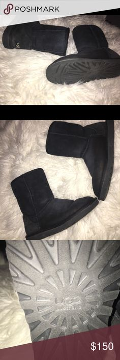 Black Ugg boots ! Super comfortable, I just never wear them anymore!! They are in pretty good condition and are a size 9! 🖤 price is negotiable :) UGG Shoes Winter & Rain Boots