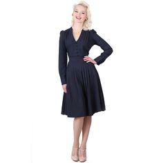 Collectif Wilhelmina Vintage 40s 50s Retro Pleated Party Prom Flared Tea Dress
