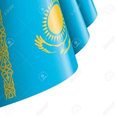 Kazakhstan flag, vector illustration on a white background , Kazakhstan Flag, Flag Vector, Art Designs, Graphic Art, Illustration, Ideas, Art Projects, Illustrations, Patterns