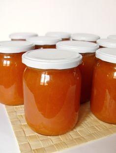 Citromhab: Sárgabarackdzsem Home Canning, Preserving Food, Preserves, Pesto, Ham, A Table, Salsa, Cheesecake, Food And Drink