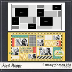 Sweet Shoppe Designs::2 Page Layout Templates::2 Many Photos 162 by Janet Phillips