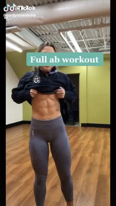 Full Ab Workout, Gym Workout Videos, Gym Workout For Beginners, Abs Workout Routines, Fitness Workout For Women, Ab Workout At Home, Fitness Workouts, Butt Workout, Fitness Goals
