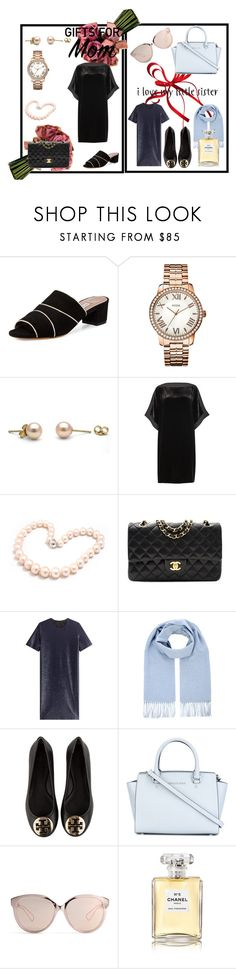 """simple gift for mom & my sis"" by delsyy on Polyvore featuring Tabitha Simmons, GUESS, Eileen Fisher, Hiho Silver, Chanel, Jil Sander, Tory Burch, MICHAEL Michael Kors, Christian Dior and giftguide"