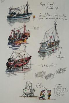Une bretagne par les contours/ Erquy, Le port