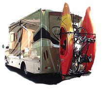 YAKUPS BRAND RVKAYAKRACKS.COM The Original Vertical RV Kayak Racks RV Bike Racks