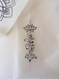 dessins de tatouage 2019 Tattoo Trends – Tatoo cou **possibly add this design to the top of heart on my back - Tattoo Designs Photo Small Tattoos Arm, Trendy Tattoos, Mini Tattoos, Sexy Tattoos, Flower Tattoos, Body Art Tattoos, Tattos, Lotusblume Tattoo, Tattoo Fonts