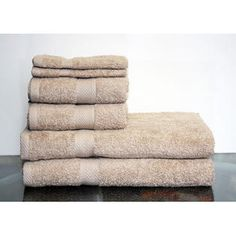 Espalma Deluxe 6 Piece Towel Set - Color: Taupe at Sears.com