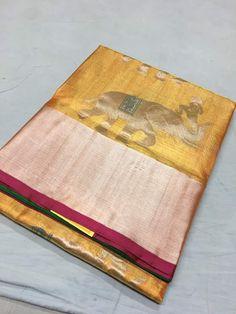 Online kanchi pattu sarees at best prices Crepe Saree, Organza Saree, Designer Sarees Collection, Saree Collection, Kanjivaram Sarees Silk, Kanchipuram Saree, Saree Floral, Mirror Work Blouse, Good Color Combinations