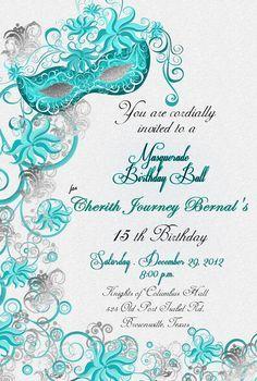 Free Printable Party Invitations: Masquerade or Mardi Gras Party ...