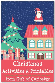Christmas activities and printables: A collection of kid-friendly Christmas crafts, Christmas sensory play, Christmas learning activities, and Christmas printables for kids ages 2-7. Great ideas to keep the kids busy during December! || Gift of Curiosity
