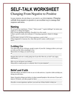 The Worry Bag Self Talk Worksheet Archives