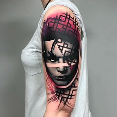 Tattoo artist Rich Harris authors style color abstract portrait realism, surrealism | UK