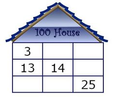 Freebie!................Cute, house-themed hundred chart; one blank, one partially filled in, and a sheet with 100 chart puzzles (shown)