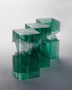 Ben Young's glass wave sculptures seek to replicate both the power and beauty of the perfect wave.
