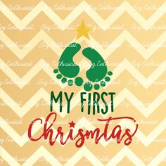 My First Christmas SVG, Christmas tree Svg, My 1st Christmas Svg, Baby Christmas SVG, New born Svg, Cricut, Dxf, PNG, Cut Files, Vector, by SVGEnthusiast on Etsy