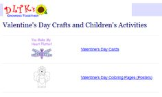"""This is an image from this resource on the Internet4Classrooms' """"Activities for Valentines Day at Internet 4 Classrooms"""" resource page:    DTLK's Valentine's Day.    Find cards, coloring pages, posters, games and puzzles, poems, recipes and many printables."""