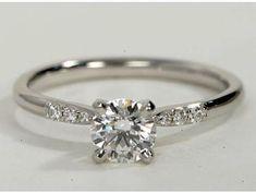 Fine Rings Honesty 14k Oro Bianco Da Donna Diamante Princess Profilo Sposa Anello Di Fidanzamento Great Varieties