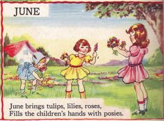 June from the Bumper Book illustrated by Eulalie by katinthecupboard, via Flickr