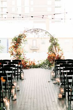 A Century Gothic Fairytale at Brazos Hall - The perfect modern fall wedding look. The perfect modern fall wedding look. The perfect modern fall - Fall Wedding Arches, Fall Wedding Decorations, Wedding Ceremony Decorations, Wedding Themes, Wedding Venues, Decor Wedding, Whimsical Wedding Decor, Modern Wedding Ideas, Wedding Backdrops