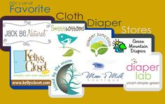 My favorite cloth diaper stores!