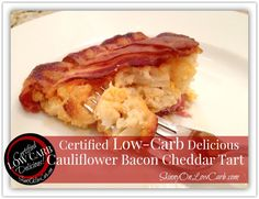 HERE it is! My certified low-carb delicious Cauliflower Bacon Cheddar Tart recipe!   THANKS to all of you for your patience this morning! I know so many of you have been waiting for this recipe! It took me a LOT longer to write it up for you than it does to make it BUT it was worth the wait! It is two-thumbs up delish!    Thanks too to Chef Michael Smith​ for his inspirational video, as well as the gals on the My Low Carb Keto Cooking​ group for bringing it to my attention! I couldn't have…