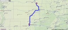 Driving Directions from [452-499] E Main St, Fairfax, Missouri 64446 to 10 N Broadway Ave, Oklahoma City, Oklahoma 73102 | MapQuest