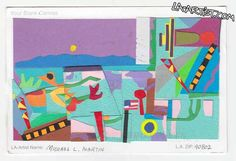 Art mailed by Michael L. Martin from #MichaelLMartin - http://la-artist.com/artcard/2013/07/michael-l-martin/