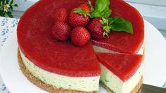 Erdbeer-Basilikum-Cheesecake (Quelle: ZDF)