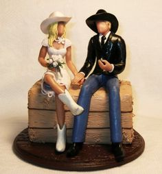 Western Wedding Cake Topper- only if I didn't already have my cake topper....