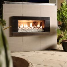 Escea EF5000 Outdoor Gas Fireplace - Stainless Steel Fascia - $4,605 + backing board and cladding