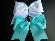 Cheer bows! Texas size Tiffany & Co. inspired cheer bows!