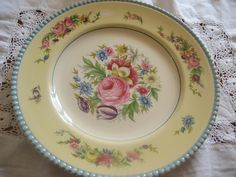 This pretty plate will be going on the wall of my summerhouse