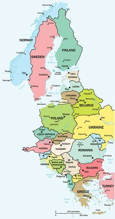 Clickable map of East Europe that  brings you to pages of links and resources