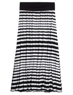Stripe Side Slit Maxi Skirt | Girls Beach Chic New Arrivals | Shop Justice