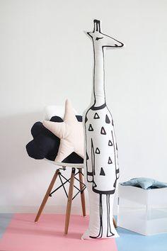 Ampio cuscino giraffa, Scandi, giraffa giocattolo, giocattolo ripiene, Art…