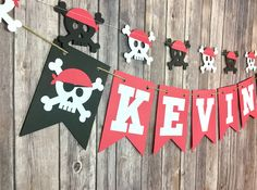 Pirate Name Banner, Pirate Party, Name Banner, Photo Prop by JoyfulCraftShop on Etsy https://www.etsy.com/listing/527566008/pirate-name-banner-pirate-party-name