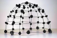 "Wire Dome I  (c) Barbara Gilhooly  annealed Steel wire  21"" x 31"" x 27"""