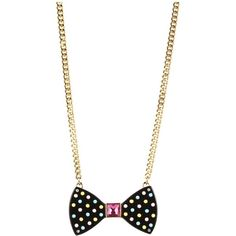 Betsey Johnson Candylane Bow Necklace ($40) ❤ liked on Polyvore