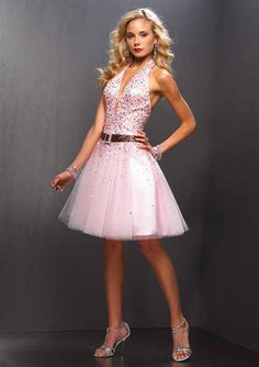light blue short prom dress