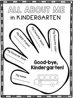 End of the Year Activities - Kindergarten:This product contains end of the year activities designed for kindergarten. The students will complete several writing prompts, then staple the pages together to create a memory book.Pages included:* All About Me in Kindergarten* Good-Bye, Kindergarten!* My Favorite Book in Kindergarten* My Kindergarten Teacher* My Classmates' Autographs* Bonus:  End of the Year TagsHappy teaching!Dana's Wonderland