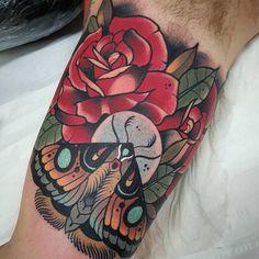 """""""Fun one on the inner arm. Done with @revolutionneedles @killerinktattoo and @hustlebutterdeluxe  #thebesttattooartists #tattoo #tattooistartmagazine…"""""""