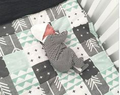 Deer Tribal Patchwork Baby Blanket-2 sizes by fingersandtoes