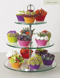Floristry courses at the Judith Blacklock flower school Deco Floral, Arte Floral, Floral Design, Ikebana, Fresh Flowers, Beautiful Flowers, Deco Nature, Flower Cupcakes, Succulent Cupcakes