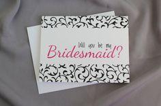 #Asking #Bridesmaid #Cards  #customize #patternedpomegranate Set of Five #etsy #willyoubemybridesmaid #wedding