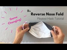 Sewing Hacks, Sewing Tutorials, Sewing Crafts, Sewing Projects, Sewing Patterns, Fabric Crafts, Easy Face Masks, Diy Face Mask, Pocket Pattern