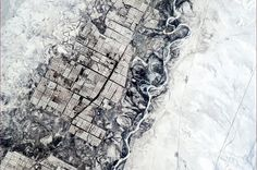 Twitter / Cmdr_Hadfield: farms in central Asia